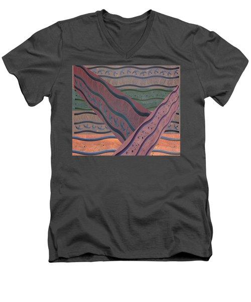 Lake Pat Sign Collage Men's V-Neck T-Shirt