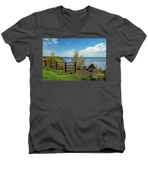 Lake Superior Overlook Men's V-Neck T-Shirt