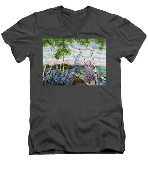 Lakeside Lupin Men's V-Neck T-Shirt