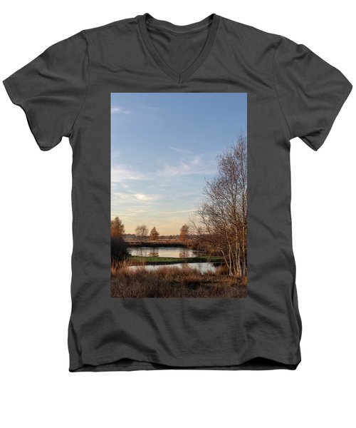 Men's V-Neck T-Shirt featuring the photograph Landscape Scenery by Anjo Ten Kate