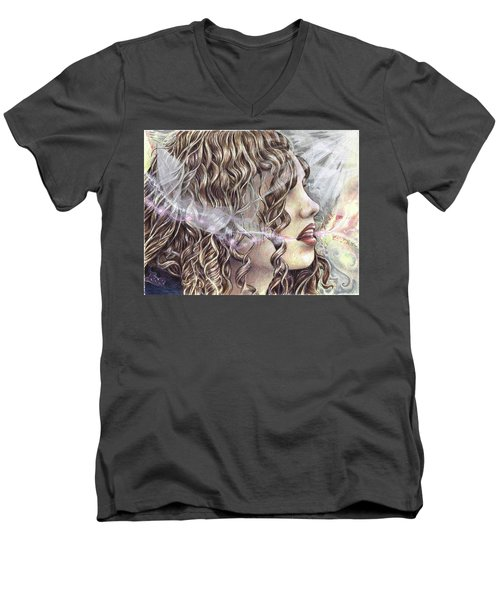 Language Men's V-Neck T-Shirt
