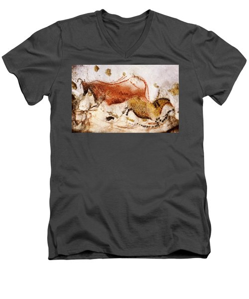 Lascaux Cow And Horse Men's V-Neck T-Shirt