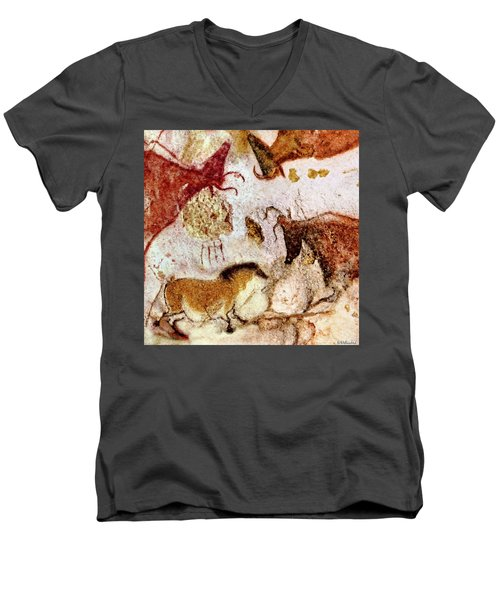 Lascaux Horse And Cows Men's V-Neck T-Shirt