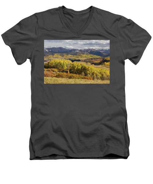 Men's V-Neck T-Shirt featuring the photograph Last Dollar Road by James BO Insogna