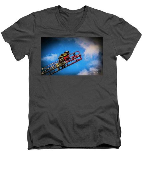Last Fire Men's V-Neck T-Shirt