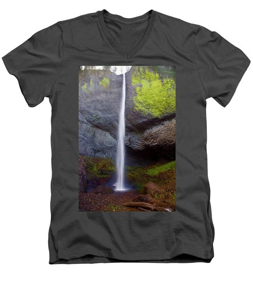 Latourell Falls Men's V-Neck T-Shirt