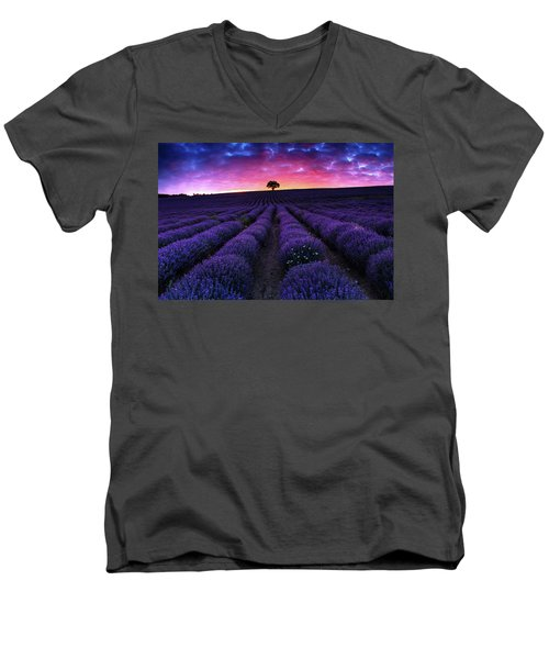 Lavender Dreams Men's V-Neck T-Shirt