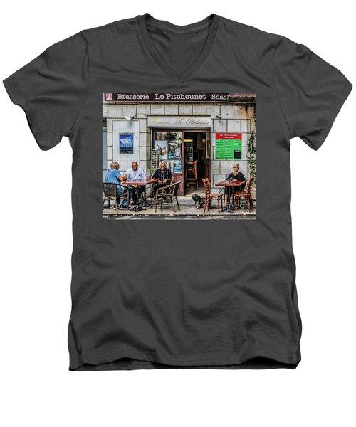 Le Pitchounet Brasserie Men's V-Neck T-Shirt
