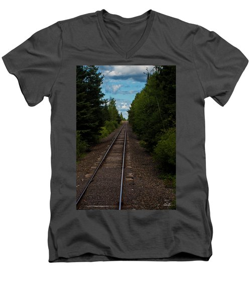 Leading Lines Men's V-Neck T-Shirt