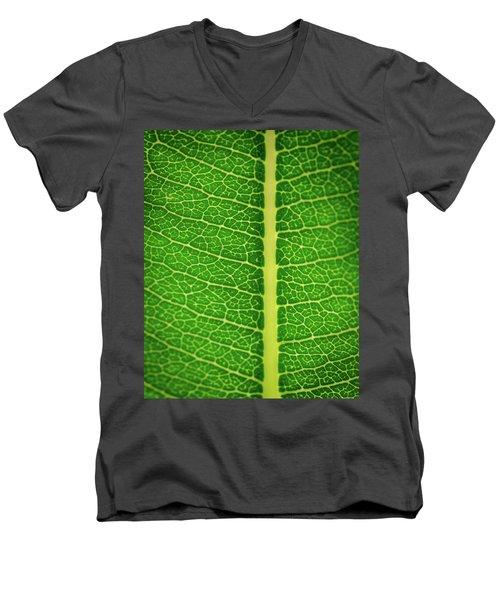 Leafy Detail Men's V-Neck T-Shirt