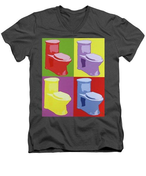 Les Toilettes  Men's V-Neck T-Shirt