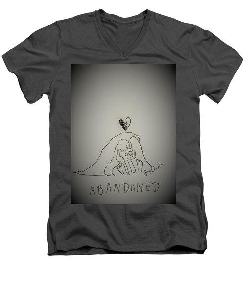 Life Is A Cartoon. Right. Men's V-Neck T-Shirt