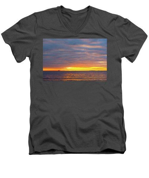 Light On The Horizon Men's V-Neck T-Shirt