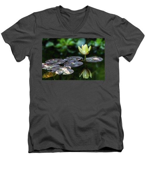 Lily In The Pond Men's V-Neck T-Shirt