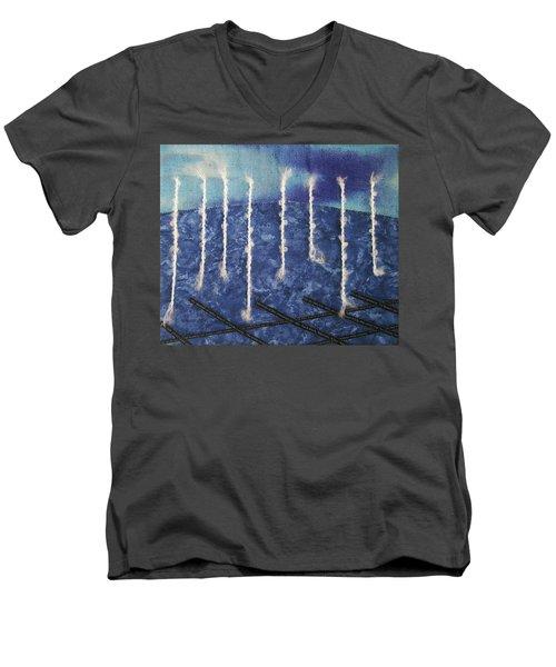 Lines Of Text Men's V-Neck T-Shirt