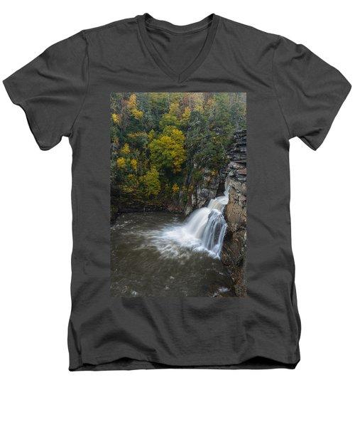Linville Falls Men's V-Neck T-Shirt