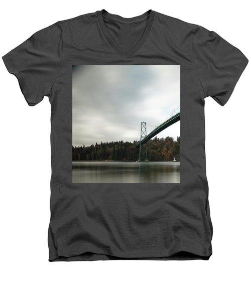 Lions Gate Bridge Vancouver Men's V-Neck T-Shirt