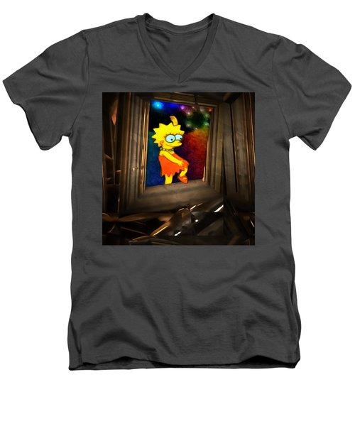 Lisa Steps Out Men's V-Neck T-Shirt