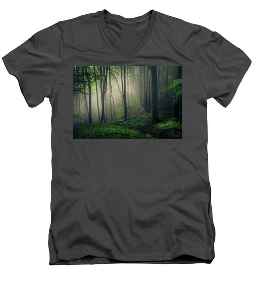 Living Forest Men's V-Neck T-Shirt