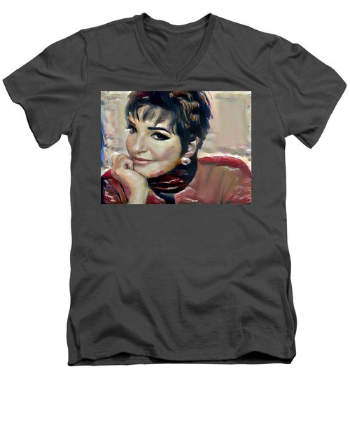 liza Minelli Men's V-Neck T-Shirt
