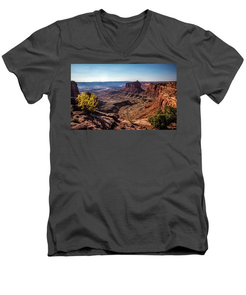Men's V-Neck T-Shirt featuring the photograph Lonely Butte by David Morefield