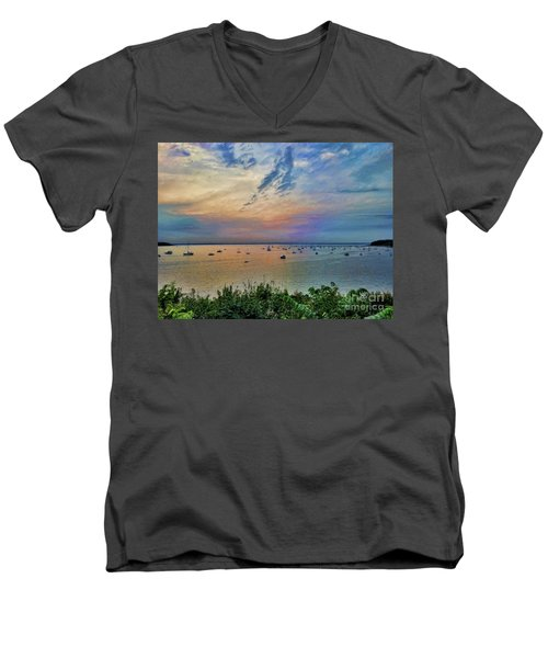 Long Island Sound From Glen Cove Men's V-Neck T-Shirt