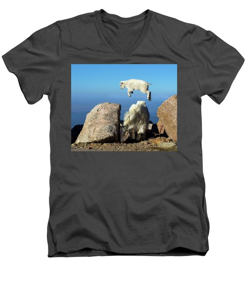 Look Ma, I'm Flying Men's V-Neck T-Shirt