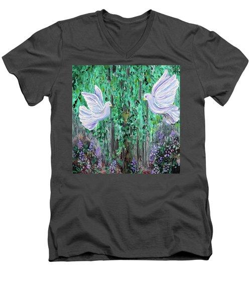 Love Birds Men's V-Neck T-Shirt