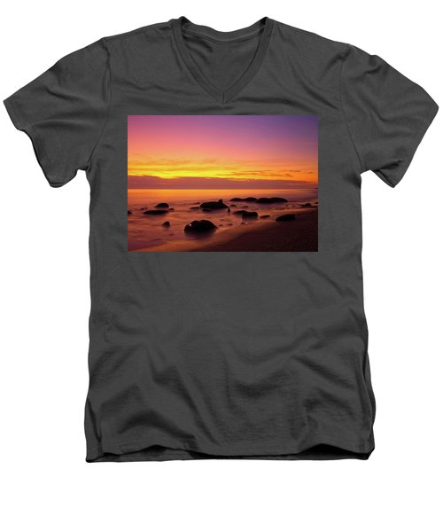 Low Tide Nautical Twilight Men's V-Neck T-Shirt