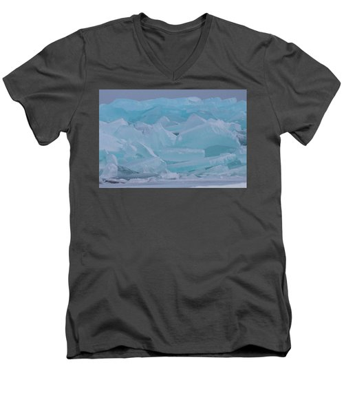 Mackinaw City Ice Formations 21618010 Men's V-Neck T-Shirt