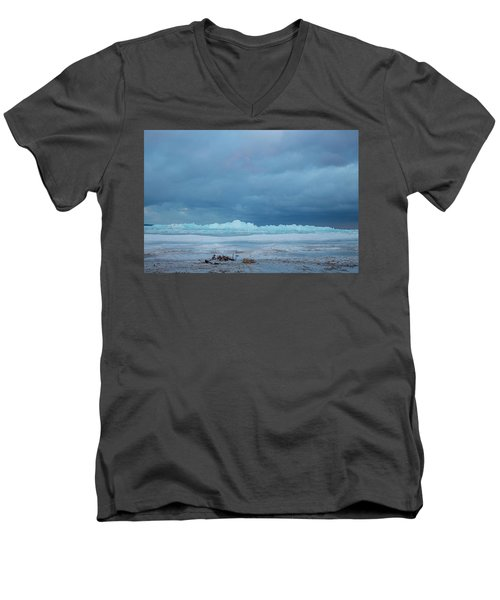 Mackinaw City Ice Formations 21618011 Men's V-Neck T-Shirt
