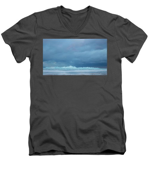 Mackinaw City Ice Formations 21618012 Men's V-Neck T-Shirt