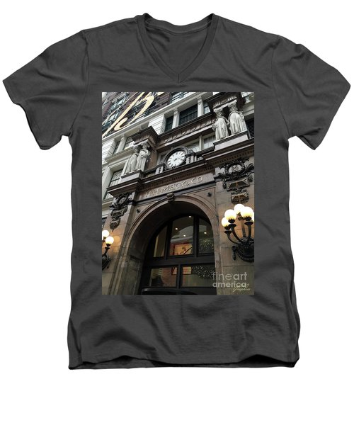 Macys Herald Square Nyc Men's V-Neck T-Shirt