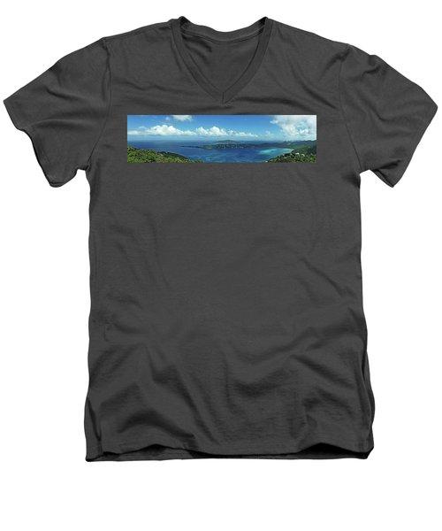Magens Panorama Men's V-Neck T-Shirt