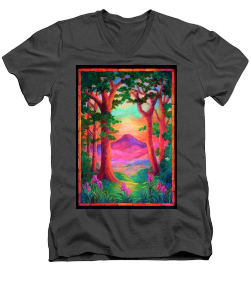Magenta Morning Men's V-Neck T-Shirt