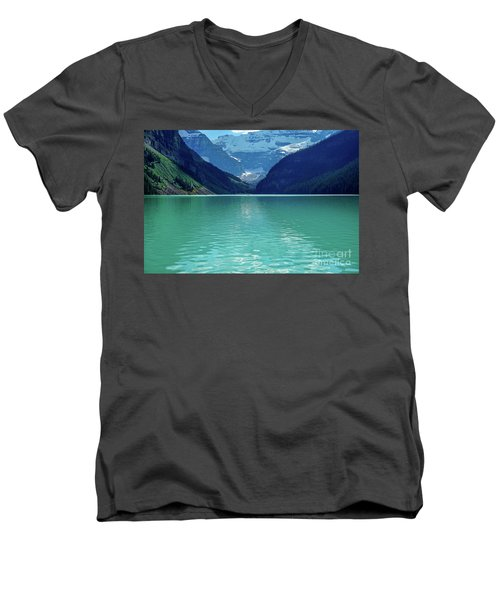 Magic At Lake Louise Men's V-Neck T-Shirt
