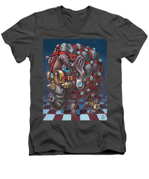 Magical Many-eyed Elephant Men's V-Neck T-Shirt