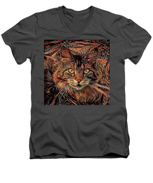 Maine Coon Cat Men's V-Neck T-Shirt