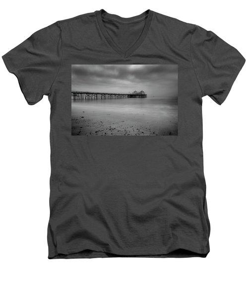 Malibu Pier Men's V-Neck T-Shirt