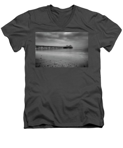 Malibu Pier Men's V-Neck T-Shirt