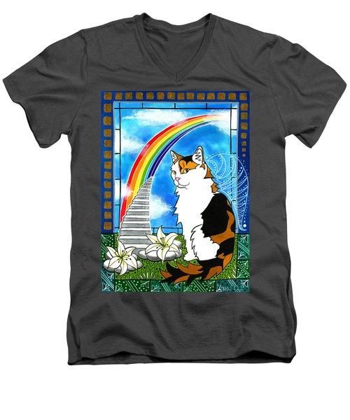 Mama Turtle - Cat Painting Men's V-Neck T-Shirt