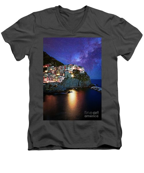 Manarola By Stars Men's V-Neck T-Shirt