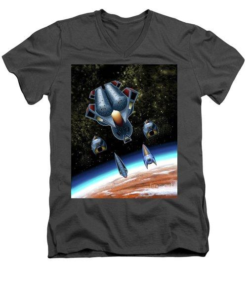 Mangle Approaches Nisip Men's V-Neck T-Shirt