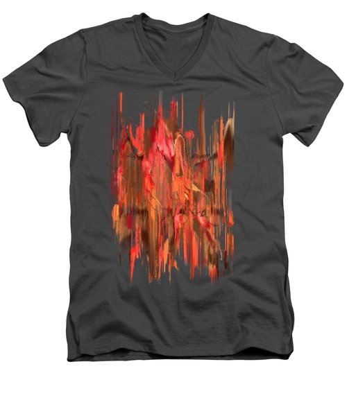 Maple Leaf Rag Men's V-Neck T-Shirt
