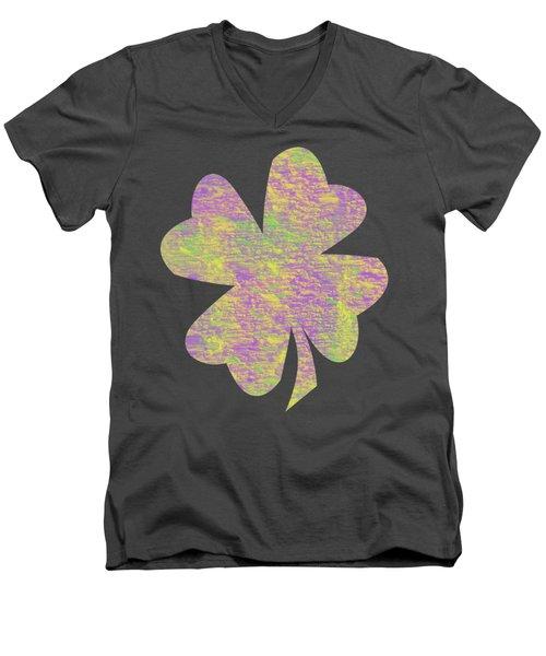Mardi Gras Shamrock Men's V-Neck T-Shirt