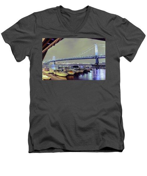 Marina Lights Men's V-Neck T-Shirt