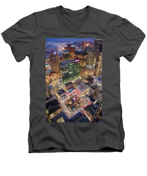 Market Square From Above  Men's V-Neck T-Shirt