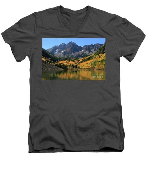 Maroon Bells In Fall Men's V-Neck T-Shirt