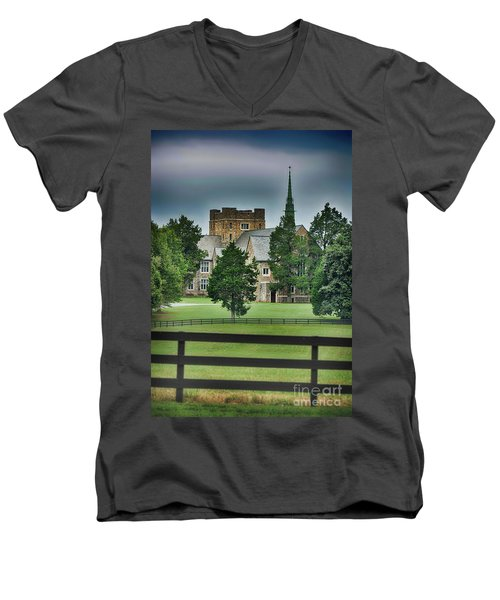 Mary Hall, Berry College Men's V-Neck T-Shirt