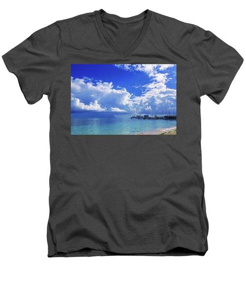 Massive Caribbean Clouds Men's V-Neck T-Shirt